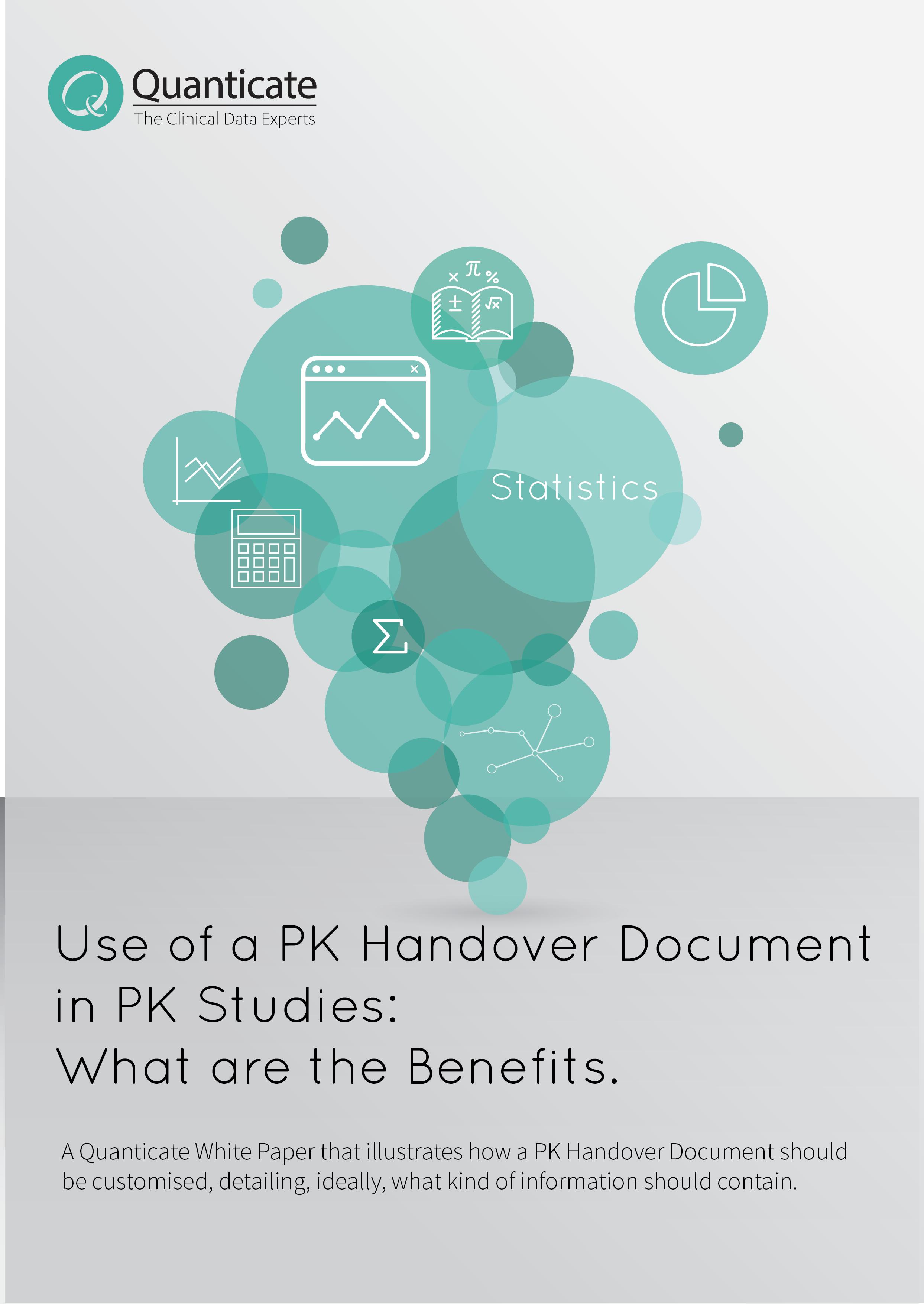 Pharmacokinetics Handover Document in PK Studies
