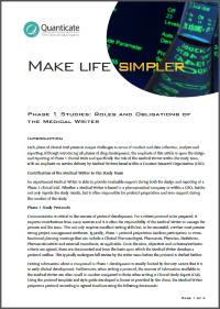 phase 1 studies medical writing