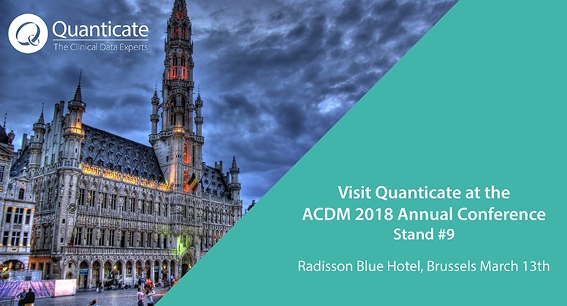 Quanticate Exhibits at the ACDM 2018 Annual Conference in Brussels - Featured Image