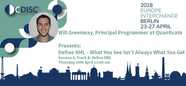 Speaker Session on Define.xml at the CDISC Interchange 2018 Berlin on 26th April - Featured Image