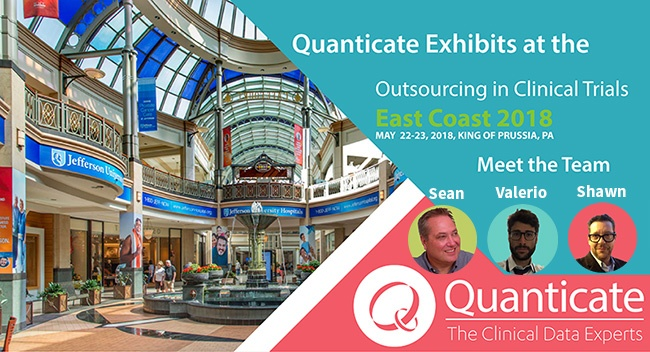 Quanticate Exhibits at the Outsourcing in Clinical Trials East Coast 2018 - Featured Image