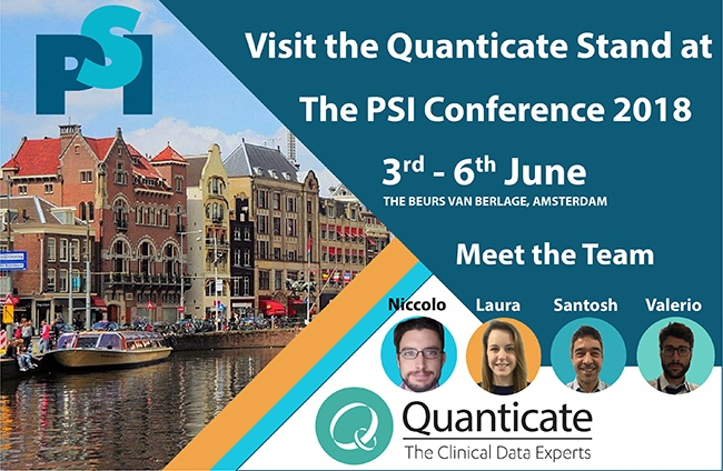 Quanticate Exhibits at the Statisticians in the Pharmaceutical Industry (PSI) 2018 - Featured Image