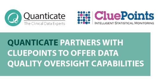 Quanticate partners with CluePoints to offer Data Quality Oversight capabilities - Featured Image