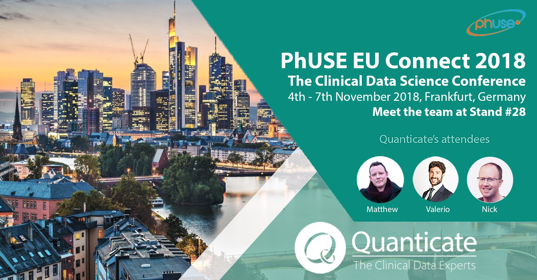 Quanticate Exhibits at the PhUSE EU Connect 2018 in Frankfurt - Featured Image