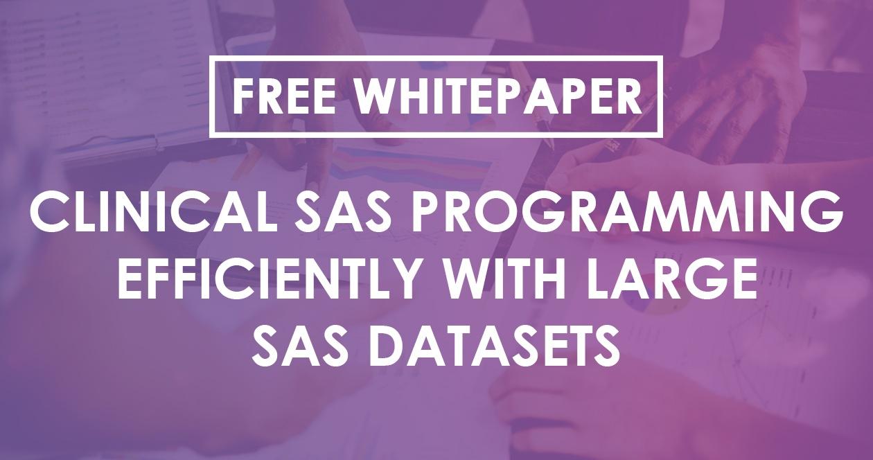 Clinical SAS Programming Efficiently   Large SAS Datasets   Quanticate