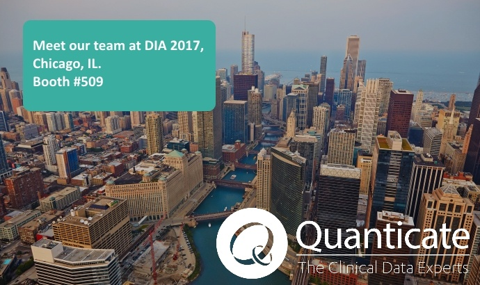 Quanticate Exhibiting at DIA 2017 Chicago, IL. - Featured Image
