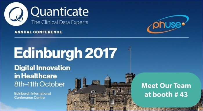 Quanticate Exhibits at the PhUSE Annual Conference 2017 at EICC Edinburgh - Featured Image